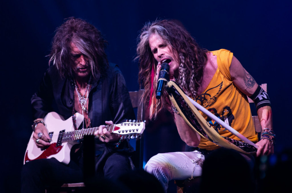 Joe Perry with Aerosmith