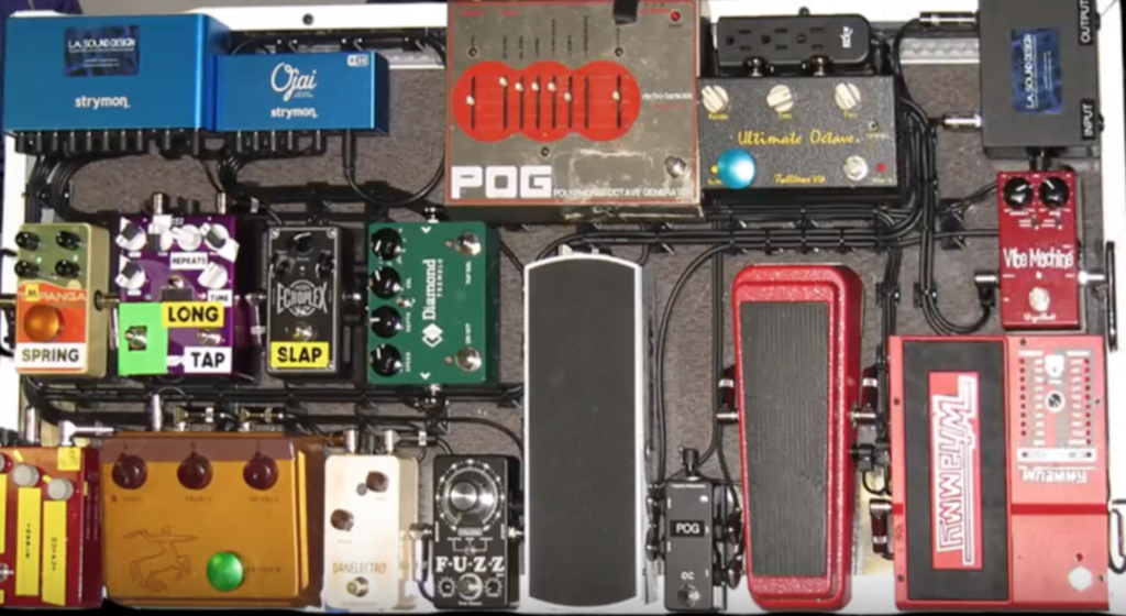 Joe Perry pedalboard with Breakdown pedal
